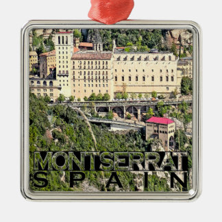 Montserrat Silver-Colored Square Ornament