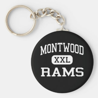 Montwood - Rams - High School - El Paso Texas Basic Round Button Keychain