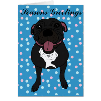 Monty the Staffordshire bull terrier Card