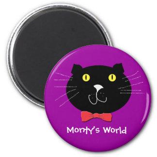 Monty's World purple Refrigerator Magnet