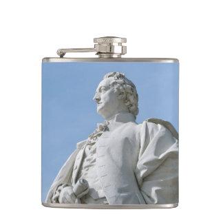 Monument of Johann Wolfgang von Goethe in Berlin Hip Flask