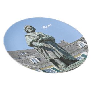 Monument of Ludwig van Beethoven in Bonn Dinner Plate