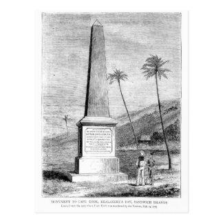 Monument pour captain James Cook Carte Postale