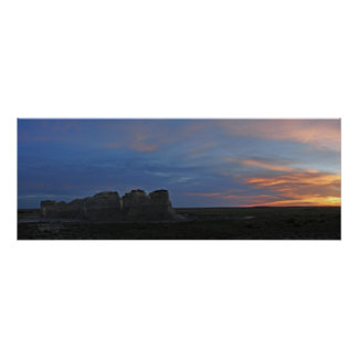 Monument Rocks Sundown 622007 Poster