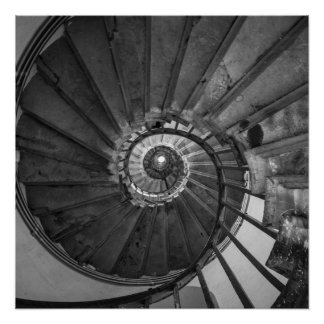 Monument Spiral Staircase Perfect Poster