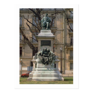 Monument to Alexander Dumas pere (1802-70) French Postcard