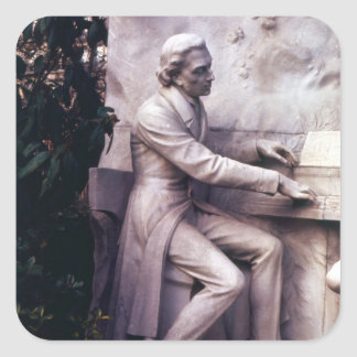 Monument to Frederic Chopin Square Sticker