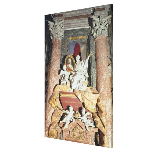 Monument to Maria Clementina Sobieska  1739 Stretched Canvas Prints