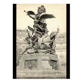 Monument to Victor Hugo Paris France Vintage Postcard