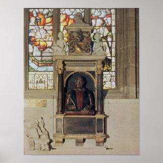 Monument to William Shakespeare  c.1616-23 Poster