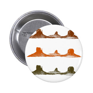 Monument Valley, 3 mountains, 3 colors 2 Inch Round Button