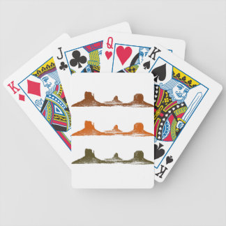 Monument Valley, 3 mountains, 3 colors Bicycle Playing Cards