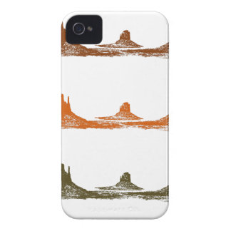 Monument Valley, 3 mountains, 3 colors iPhone 4 Case-Mate Case