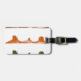 Monument Valley, 3 mountains, 3 colors Luggage Tag