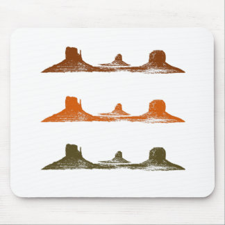 Monument Valley, 3 mountains, 3 colors Mouse Pad
