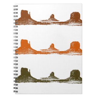 Monument Valley, 3 mountains, 3 colors Notebook
