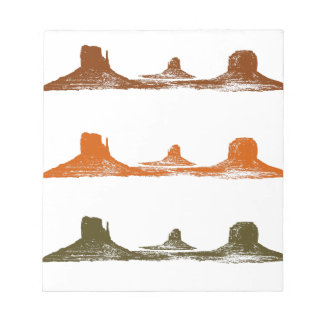 Monument Valley, 3 mountains, 3 colors Notepads