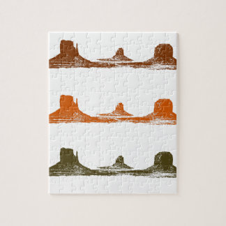 Monument Valley, 3 mountains, 3 colors Puzzles