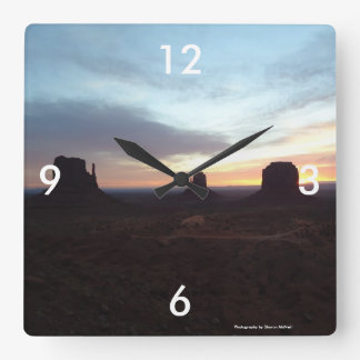 Monument Valley at night clock