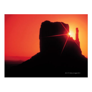 Monument Valley at sunset , Utah Postcard
