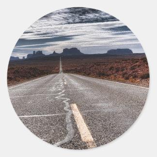 Monument Valley Classic Round Sticker