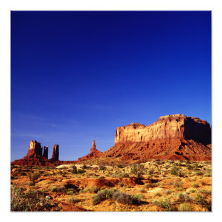 Monument Valley (Highly Polarized) Photo Print