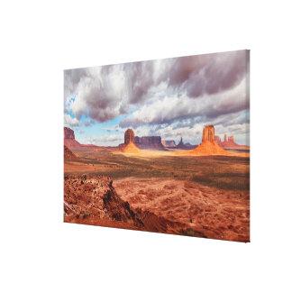 Monument valley landscape, AZ Canvas Print