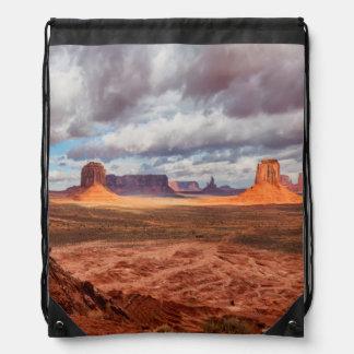 Monument valley landscape, AZ Drawstring Bag
