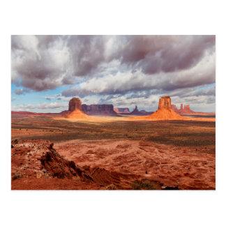 Monument valley landscape, AZ Postcard