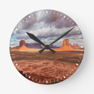 Monument valley landscape, AZ Round Clock