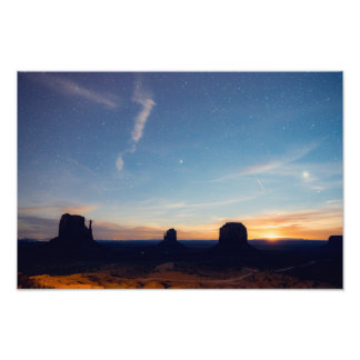 Monument Valley Moonrise Photo Print