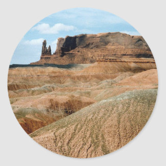 Monument Valley scene 02 Classic Round Sticker
