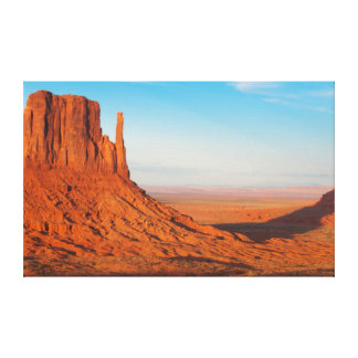 Monument Valley Utah desert mittens in panoramic Canvas Print