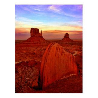 monument valley utah postcard