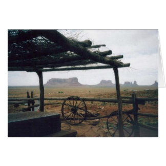 Monument Valley with Wagon Wheels Card