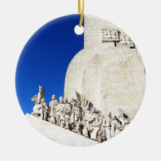 Monument you the Portuguese Sea Discoveries Round Ceramic Ornament