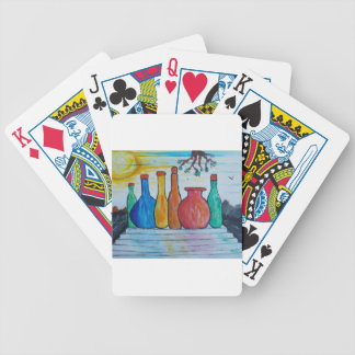 Monumental bottles bicycle playing cards