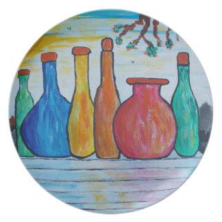 Monumental bottles plate