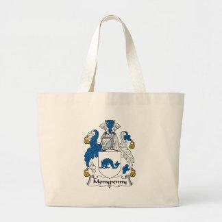 Monypenny Family Crest Jumbo Tote Bag