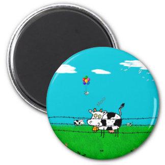 Moo 2 Inch Round Magnet