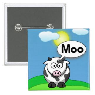 Moo 2 Inch Square Button