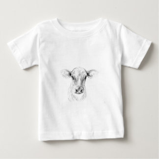 Moo A Young Jersey Cow Baby T-Shirt
