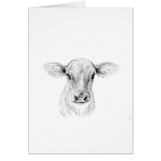 Moo A Young Jersey Cow Card