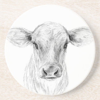 Moo A Young Jersey Cow Coaster