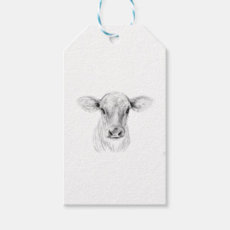 Moo A Young Jersey Cow Pack Of Gift Tags