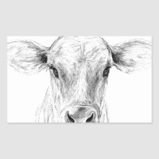 Moo A Young Jersey Cow Sticker