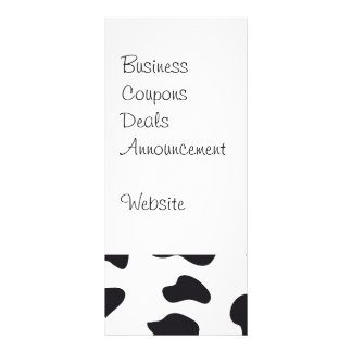 MOO Black and White Dairy Cow Pattern Print Gifts Full Color Rack Card