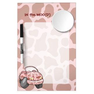 Moo Car Dry Erase Board With Mirror