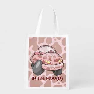 Moo Car Reusable Grocery Bag