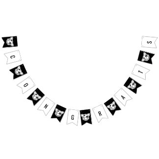 Moo Cow Baby Congrats Bunting Flags